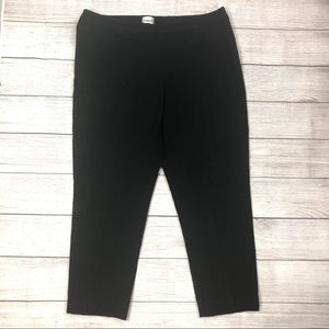 CHICO'S ANKLE PANTS SIZE 2.5 ANKLE BLACK STRETCH